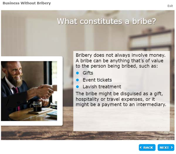 What constitutes a bribe?