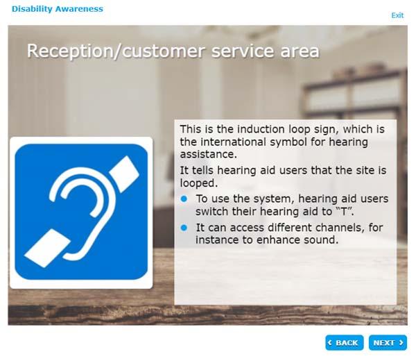 Reception/customer service area