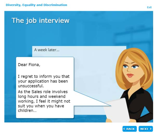 The job interview - a week later