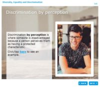 Discrimination by perception
