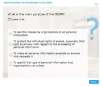 What is the main purpose of GDPR?