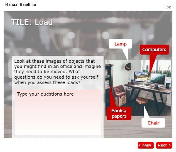 Manual Handling - TILE: Load