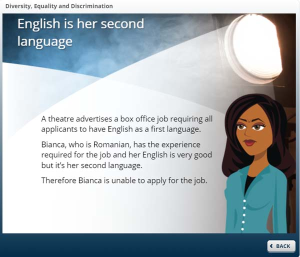 English is her second language