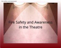 Fire Safety and Awareness in the Theatre