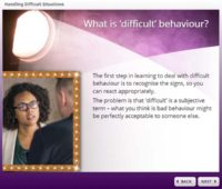 What is difficult behaviour?