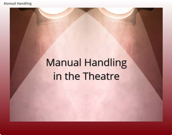 Manual Handling in the Theatre