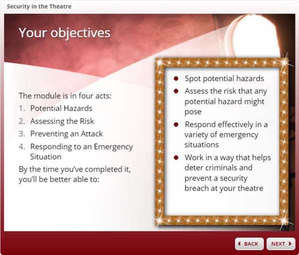 Theatre Security - Your objectives