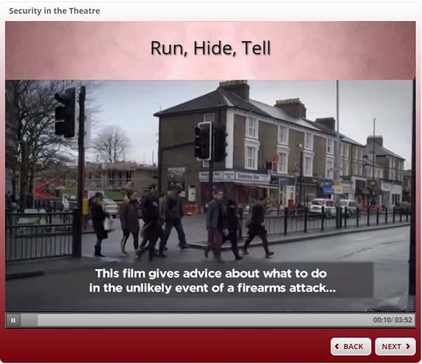 Theatre Security - Run, Hide, Tell