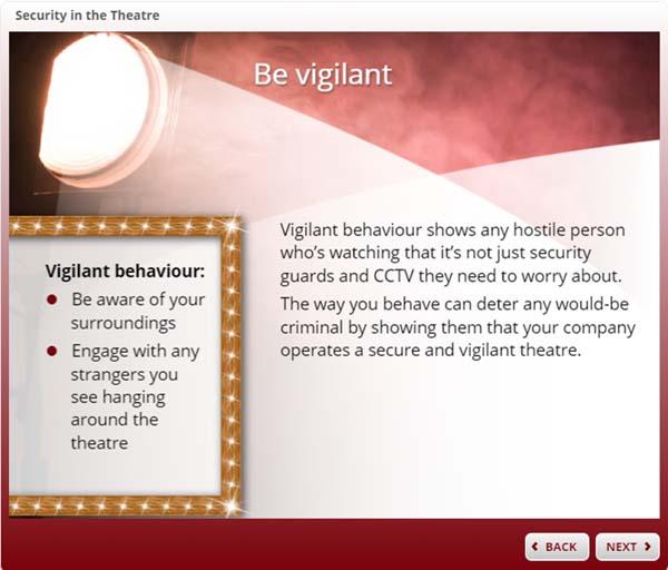 Theatre Security - Be vigilant